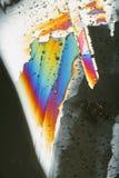 Cristais de gelo coloridos   Fotografia de Stock