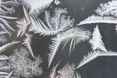 Cristais de gelo contra Gray Background Imagem de Stock Royalty Free