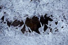 Cristais de gelo da água Foto de Stock Royalty Free