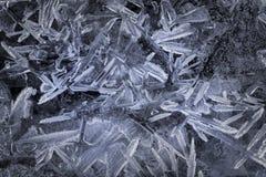 Cristais de gelo no lago congelado Imagem de Stock