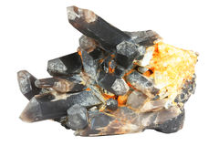 Cristais de quartzo imagem de stock