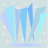 Cristais do azul de gelo Fotos de Stock Royalty Free