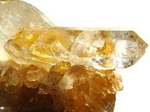 Cristais geological do geode citrino foto de stock royalty free