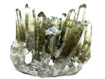Cristais geological do geode de quartzo de Morion foto de stock royalty free