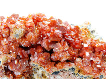 Cristais geological do geode do Vanadinite Imagem de Stock