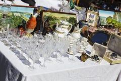 Cristais na venda, feira da ladra em agradável Foto de Stock Royalty Free