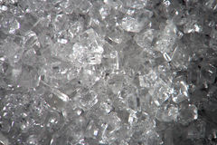 Cristais transparentes do açúcar microscópico Textura do fundo do alimento Close-up macro super pelo microscópio Fotos de Stock