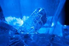 cristal蓝色的冰 免版税库存图片