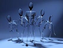 cristal ηγεσία έννοιας Στοκ φωτογραφία με δικαίωμα ελεύθερης χρήσης