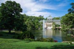 Cristal παλάτι κρυστάλλου Palacio de στο πάρκο Buen Retiro - Μαδρίτη Στοκ Φωτογραφία