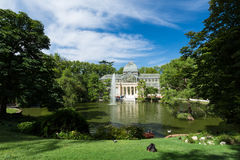 Cristal παλάτι κρυστάλλου Palacio de στο πάρκο Buen Retiro - Μαδρίτη Στοκ Εικόνες