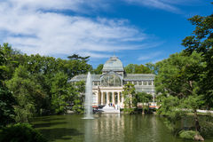 Cristal παλάτι κρυστάλλου Palacio de στο πάρκο Buen Retiro - Μαδρίτη Στοκ φωτογραφία με δικαίωμα ελεύθερης χρήσης