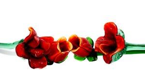 cristal красные розы Стоковая Фотография