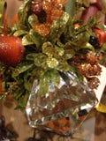 Cristal abstrato com folhas efervescentes Imagem de Stock Royalty Free