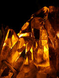 Cristal alaranjado Foto de Stock