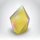 Cristal amarillo Imágenes de archivo libres de regalías