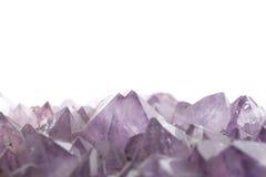 Cristal Amethyst sur le blanc Photographie stock libre de droits