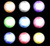 Cristal ball. Picture of nine cristal ball with different colour Stock Photos