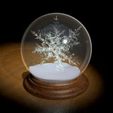 Cristal ball Snow forecast Royalty Free Stock Photos