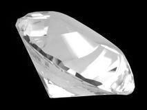 Cristal blanco del diamante (cara) Imagenes de archivo