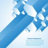 Cristal blu Illustrazione di vettore per la vostra presentazione di affari Fotografia Stock Libera da Diritti
