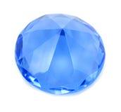 Cristal brillante azul del diamante Foto de archivo