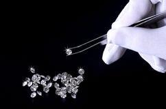 Cristal brillante hermoso (diamante) Foto de archivo