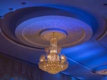 Cristal Chandelier Ceiling Stock Photos