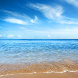 Cristal Clear. Beautiful seashore with calm cristal clear water royalty free stock photos