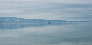 Cristal-clear waters of Baikal, Russia Royalty Free Stock Image