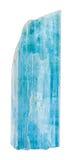 Cristal cru de béryl de bleu bleu vert d'isolement Images stock