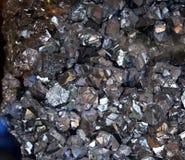 Cristal da pirite de ferro geológico Imagens de Stock