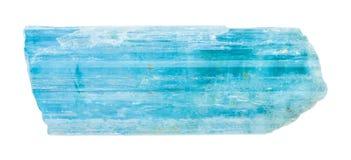 Cristal de béryl de bleu bleu vert d'isolement Photo stock