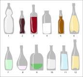 Cristal de botellas Imagenes de archivo