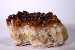 Cristal de cuarzo anaranjado Fotografía de archivo libre de regalías