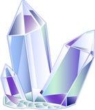 Cristal de cuarzo tres Imágenes de archivo libres de regalías