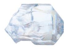 Cristal de la piedra del celestine aislado Imagen de archivo