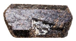 Cristal de la piedra marrón del mineral de la turmalina magnesiana del Tourmaline Imágenes de archivo libres de regalías