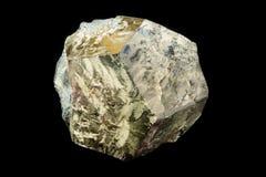 Cristal de oro de la pirita Foto de archivo
