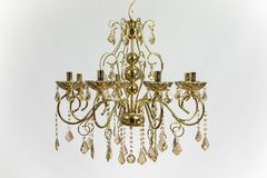 Cristal de oro del oro de la lámpara Imagen de archivo