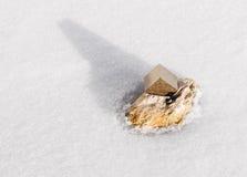 Cristal de pyrite Photographie stock libre de droits
