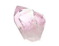 Cristal de quartzo cor-de-rosa dobro imagem de stock royalty free