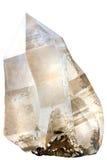 Cristal de quartzo fumarento fotografia de stock