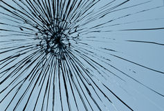Cristal de ventana quebrado Imagen de archivo libre de regalías