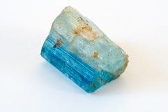 Cristal del aquamarine Foto de archivo libre de regalías