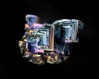 Cristal del bismuto Foto de archivo libre de regalías
