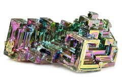 Cristal do bismuto imagem de stock royalty free