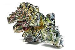 Cristal do bismuto foto de stock