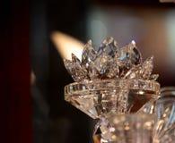 Cristal do lírio de água no vidro Fotografia de Stock Royalty Free
