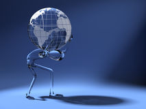 Cristal dummy carrying world Royalty Free Stock Images